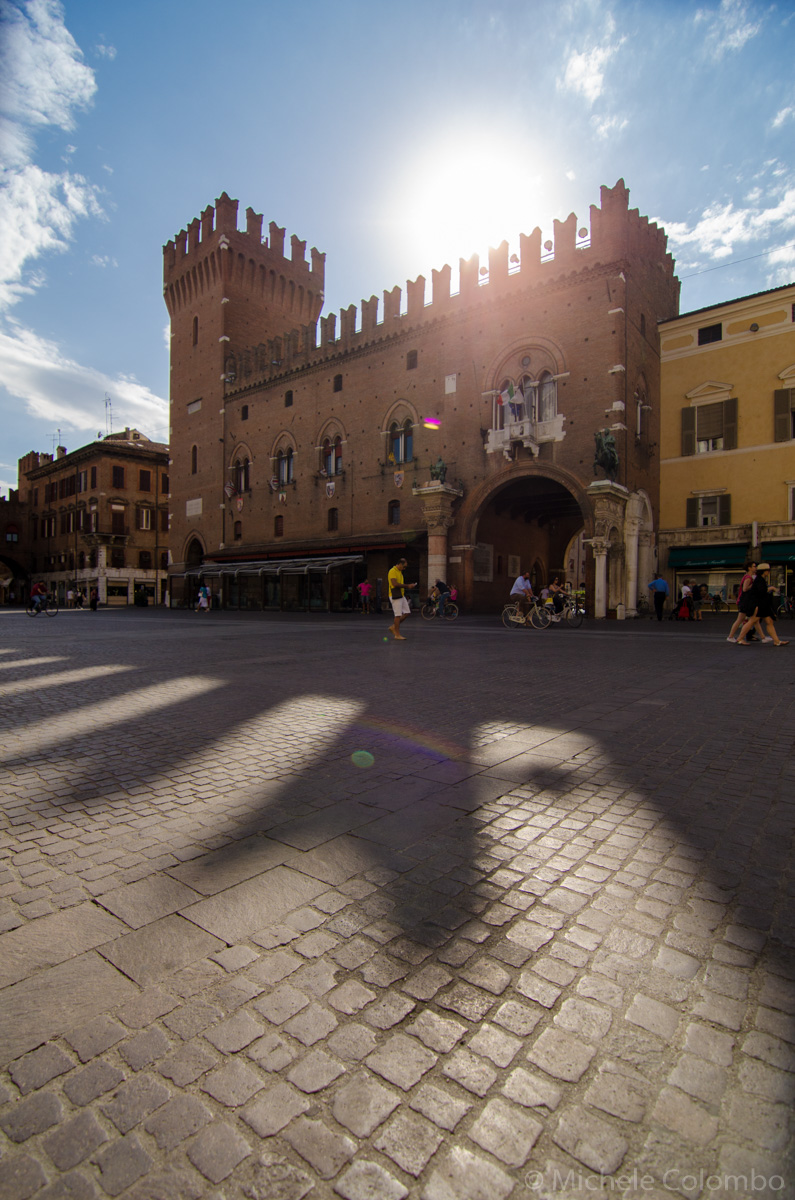 Hot summer day in Ferrara