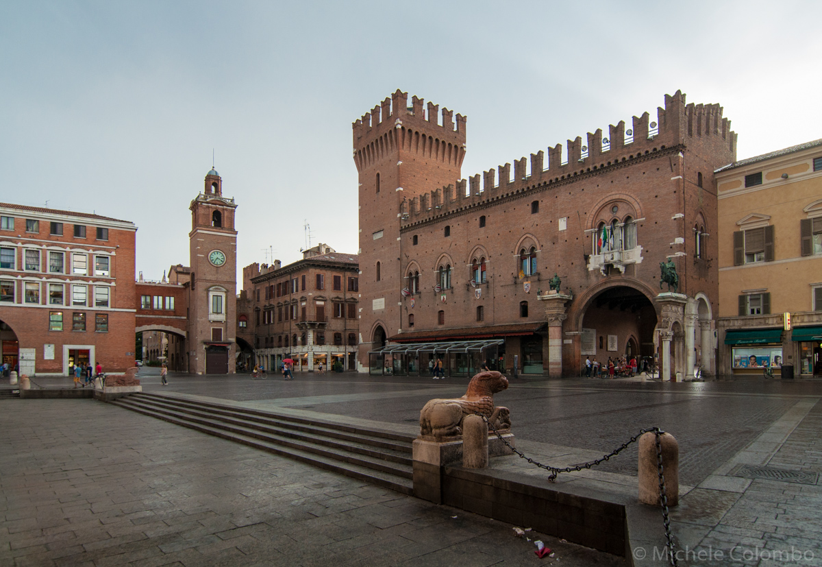 Ferrara town hall and clock tower