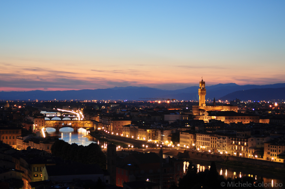 Nightfall from Piazzale Michelangelo