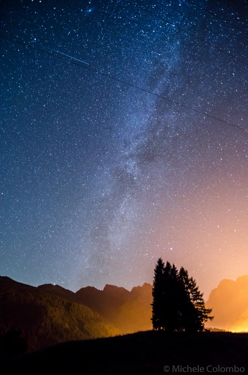 Milky way above San Martino di Castrozza