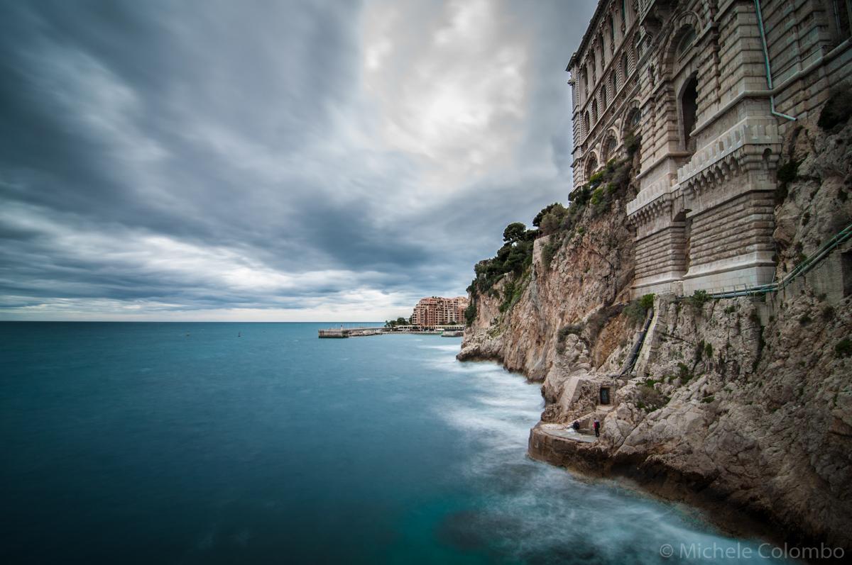 Oceanographic museum monaco over the sea