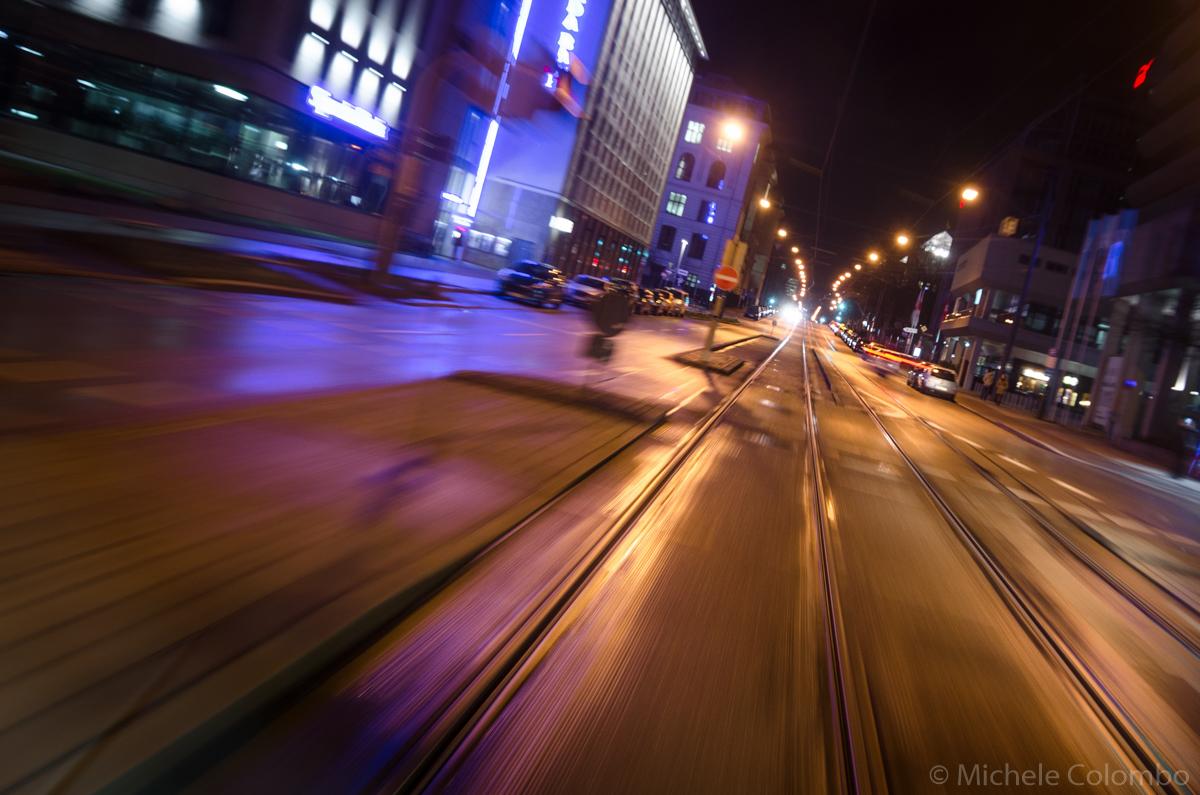 Long exposure shot from metro in Munich