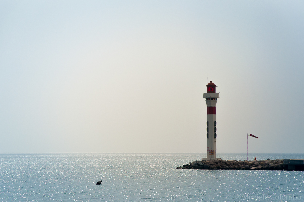 Lighthouse on the sea