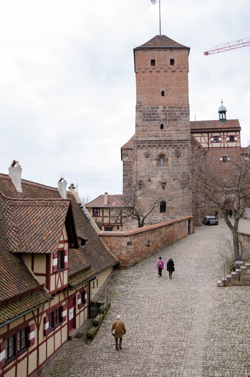 Castle and typical houses in Nuremberg