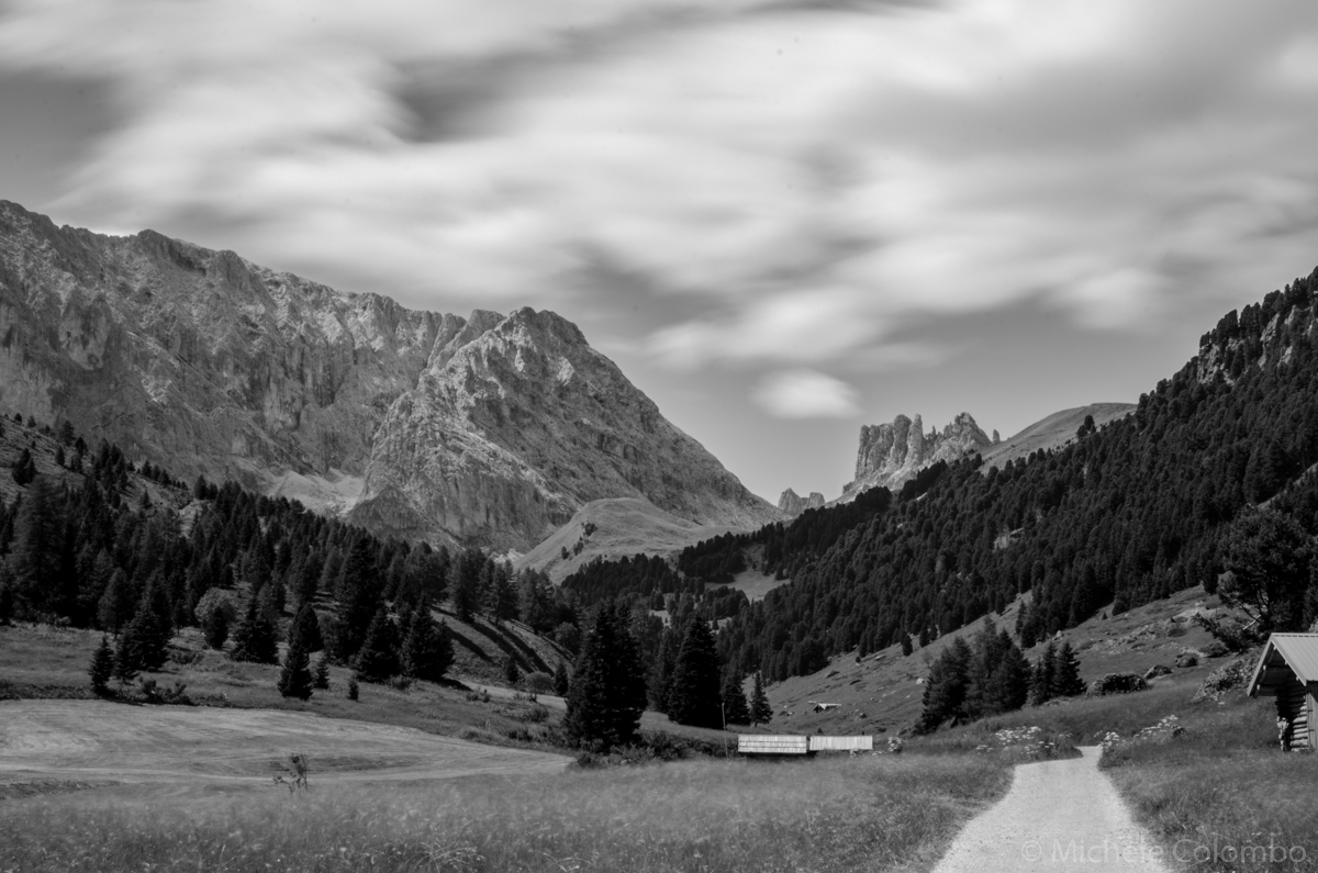 long exposure of dolomites inTrentino