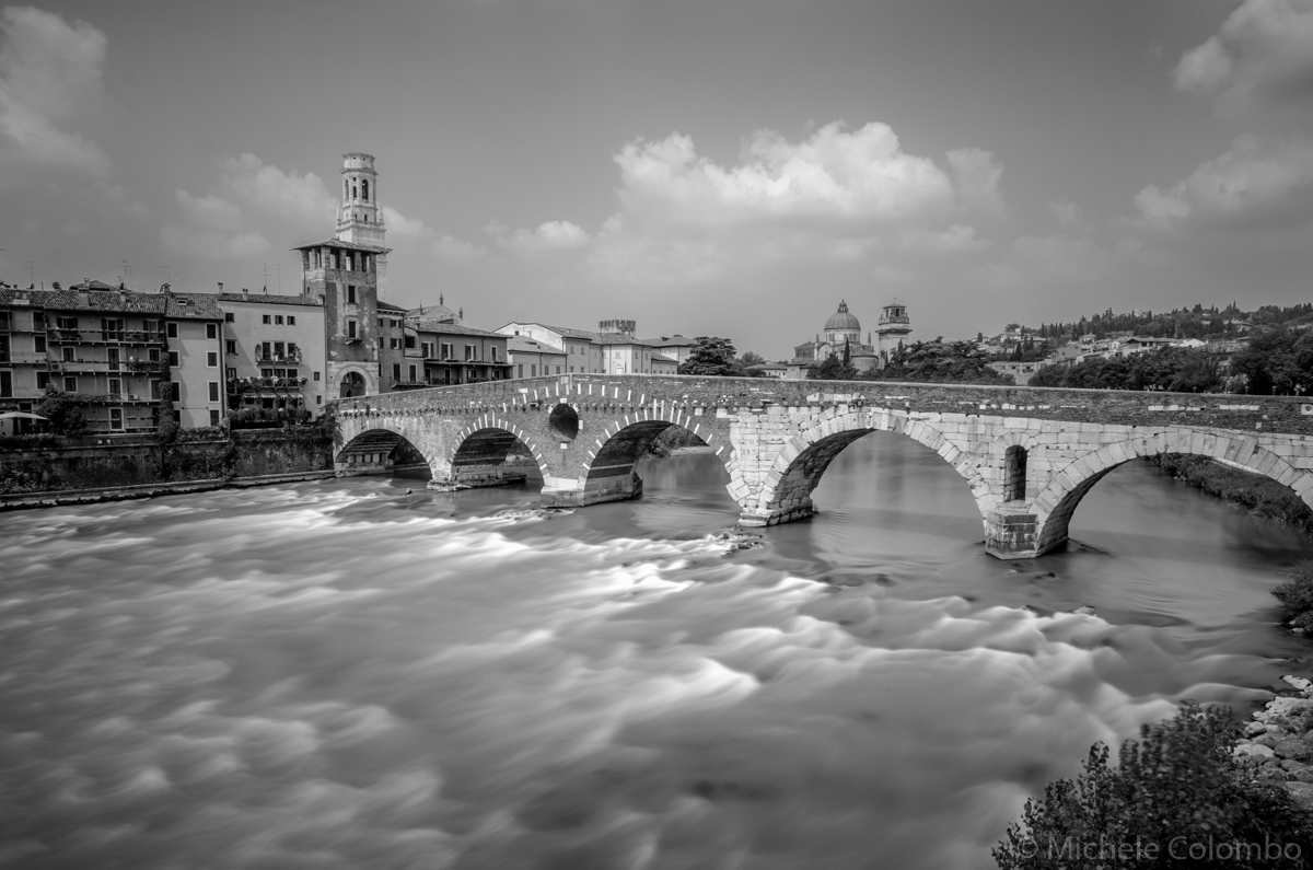 Long exposure of Ponte Pietra - Verona