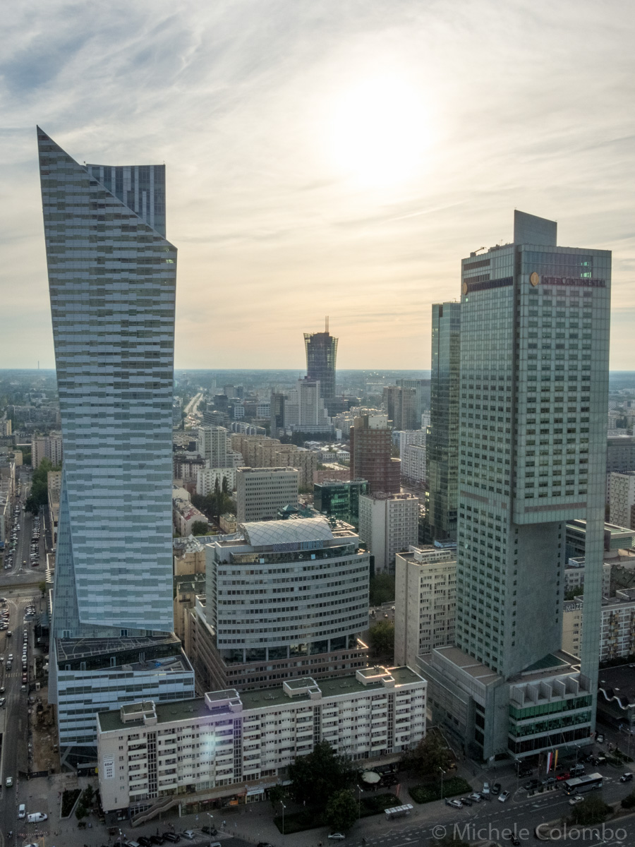 High-rise buildings in the centre of Warsaw