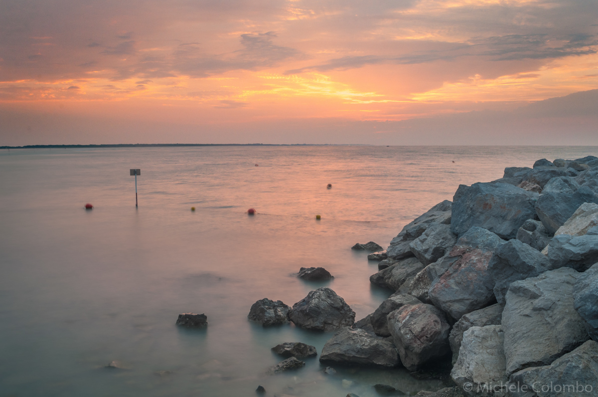 HDR shot of rocks in Caorle at dawn