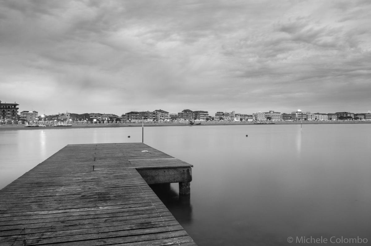 Long exposure of dock in Caorle