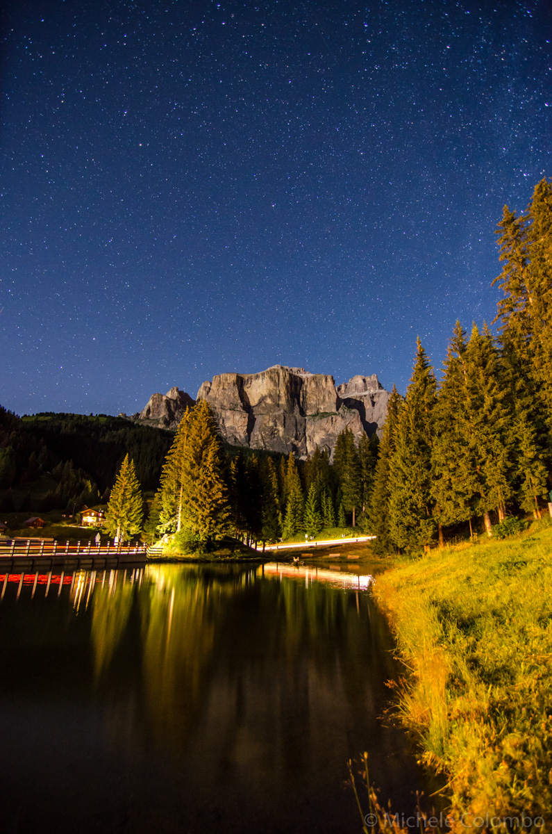 Stars and light trails on Sella group