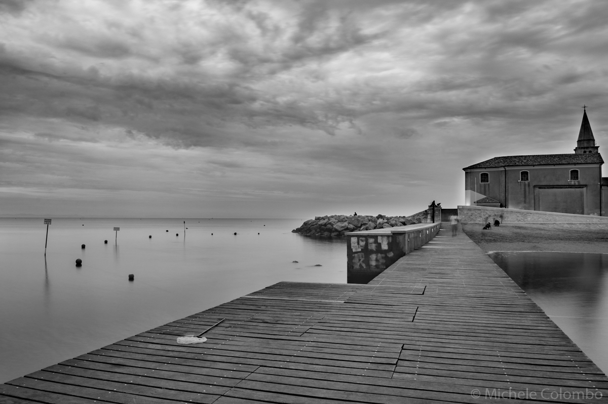 long exposure of a pier on the sea - Caorle