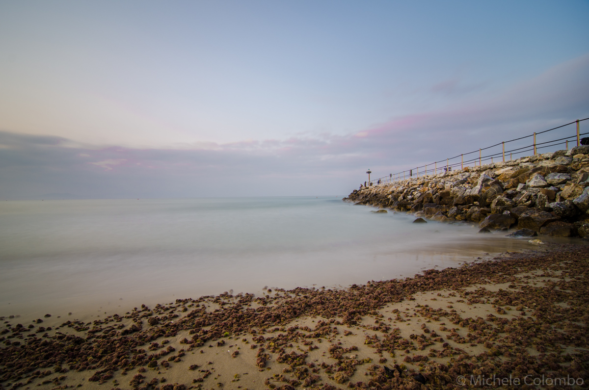 Long exposure of a pier near the beach