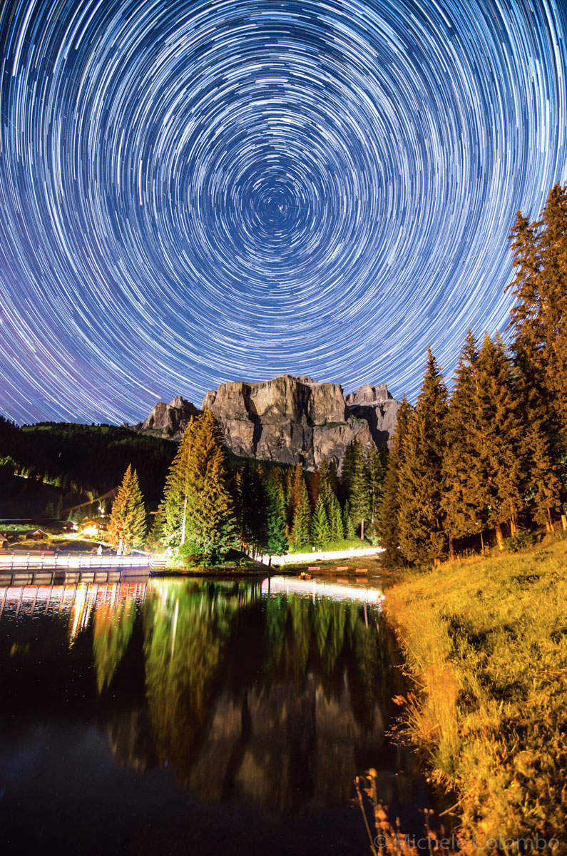 full circle star trail over Sella group
