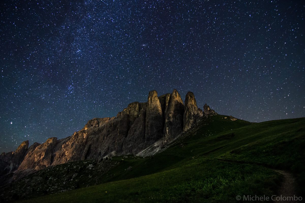 Starry night over Sella