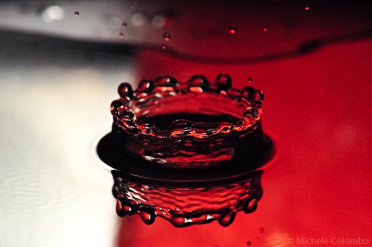 red water drop shot using arduino