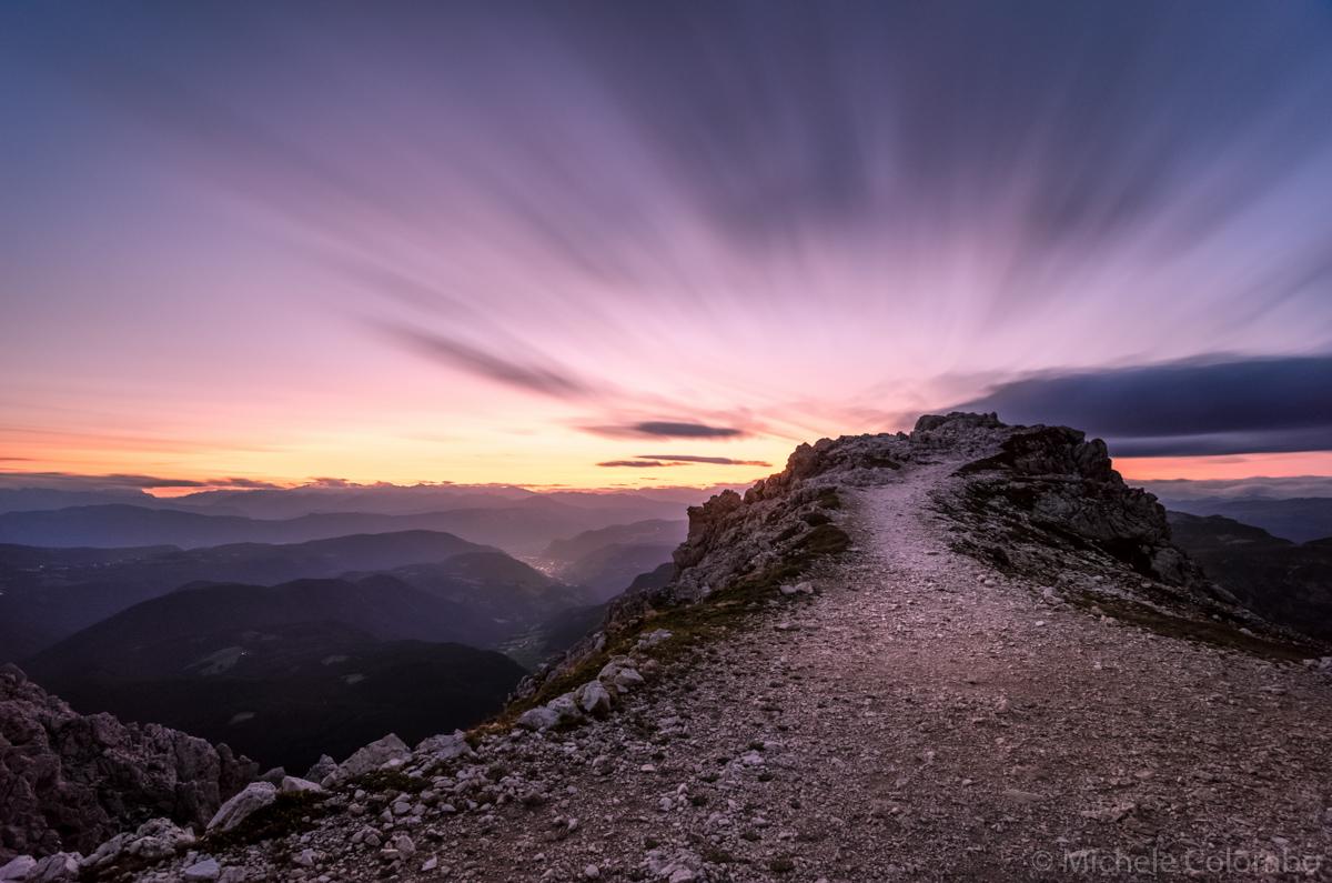 Long exposure of cloud - Santner pass